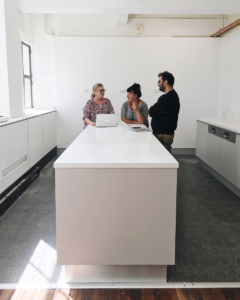 MARCH 14, 2018 A CEO, a board member, and an operations manager walk into our fresh new kitchen...